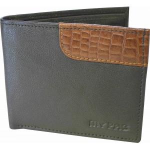 my pac db Vogue Rfid protected genuine leather  wallet Black -Tan C11595-121U