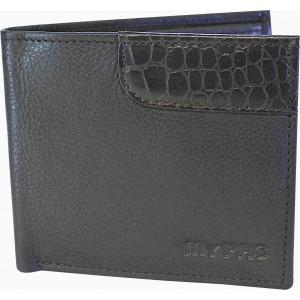 my pac db Vogue Rfid protected genuine leather  wallet Black -Brown C11595-12U