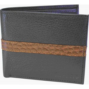 my pac db Vogue Rfid protected genuine leather  wallet Black -Tan C11597-121S