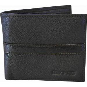 my pac db Vogue Rfid protected genuine leather  wallet Black -Brown C11599-12S