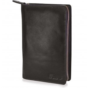arpera genuine leather family passport holder for 6 passports Brown C11592-2
