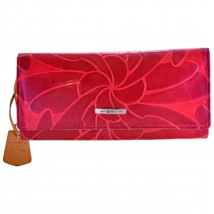arpera Red Genuine Leather wallet for Woman-C11443-3A