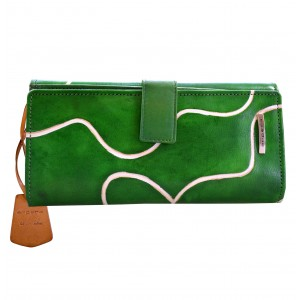 arpera signature genuine leather-green-ladies wallet-C11445-6A