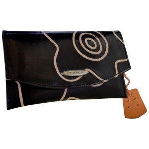 arpera summer 3 in 1 terracota leather clutch black C11516-1A