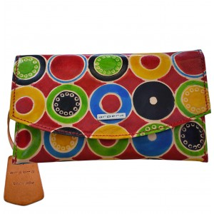 arpera hawaii 3 in 1 terracota leather clutch multicolor C11516-8A