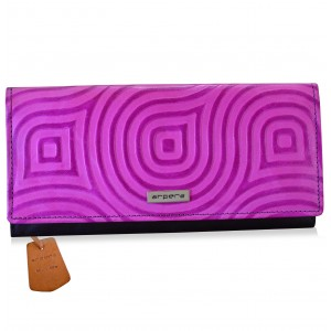 arpera abstract Genuine Leather ladies wallet|  pink |C11527-32