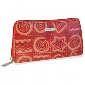arpera Sofia Leather pouch purse red C11559-3