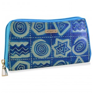 arpera Sofia Leather pouch purse blue C11559-71