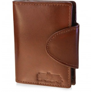 arpera Leather Card Holder C11426-21 Tan Brown