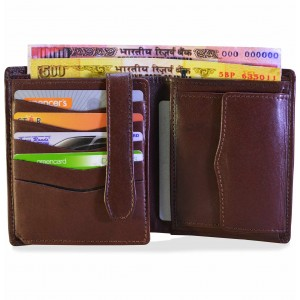 arpera Brown Genuine Leather Mens Wallet  C11437-21