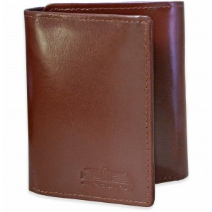 arpera mens tan brown trifold slim leather wallet   C11441-21