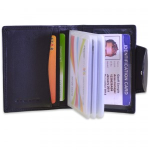 arpera black mens genuine leather card holder C11510-1