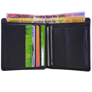arpera Black Genuine Leather Mens Multi Currencies Travel Wallet-C11512-1