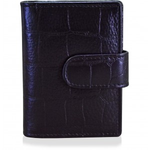 arpera crocodile print Genuine Leather card holder|bk|C11525-1