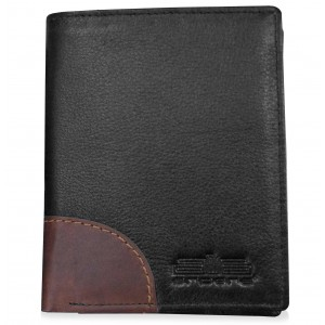 arpera-Safari Genuine Leather wallet  Black  C11537-1
