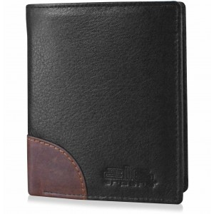 arpera-Safari Genuine Leather Secure loop wallet  Black  C11540-1