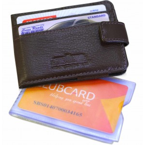 arpera Ricardo slim money clip card holder brown C11555-2