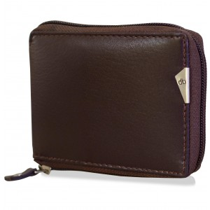 mypac-cruise Genuine Leather zip around wallet Brown C11560-2