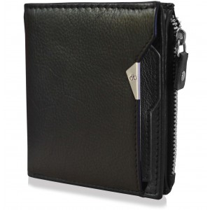mypac-cruise Genuine Leather wallet with atm card holder Black  C11561-1