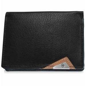 my pac cruise Genuine Leather Slim Card Holder  Black  C11533-2