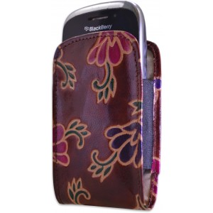 arpera handpainted brown blackberry mobile pouch C11242-2B
