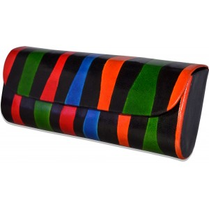 Genuine leather multicolor sunglasses case C11474-8A