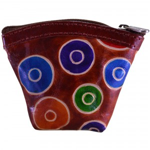 arpera bubble printed brown coin pouch C11405-2D