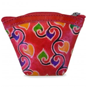 arpera abstract print red coin pouch C11405-3C