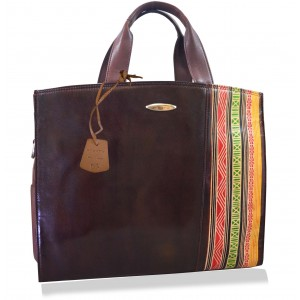 arpera vintage Genuine Leather laptop  bag|brown|C11010-2C