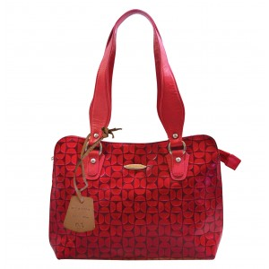 arpera | Leather Handbag | C11334-3 | Red