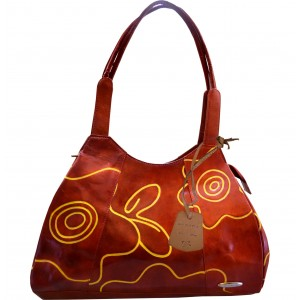 Arpera red signature handbag-Tan-C11446-21A