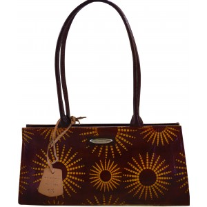 Arpera sunrise terracota leather brown handbag C11447-2A