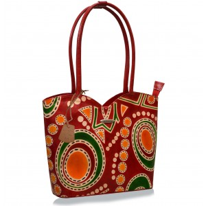 arpera Aztec Red Terracotta Leather Handbag C11478-3A
