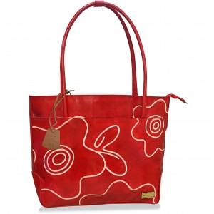 arpera Red Seka Terracotta Leather Handbag C11479-3A