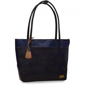 arpera Blue Terracotta Leather Handbag C11479-5A