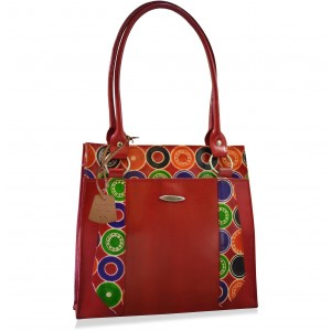 arpera rings Genuine Leather red Shoulder Bag C11520-3A
