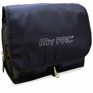 my pac Vivaa travel toiletry kit and cosmetic organizer bag black C11566-1