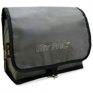 my pac Vivaa travel toiletry kit and cosmetic organizer bag Steel Grey  C11566-11