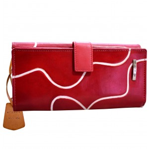 arpera Signature Red Genuine Leather Ladies Wallet  C11445-3A