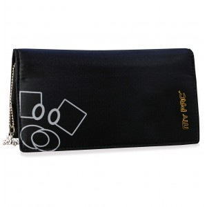 my pac Mia hand clutch purse for girls black  C11575-1