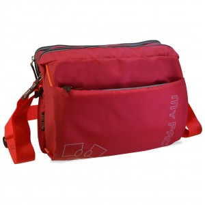 mypac-ViVaa Polyester Crossbody ipad,Camera,travel Sling bag,Red C11584-3