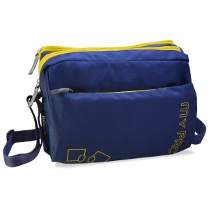 mypac-ViVaa Polyester Crossbody ipad,Camera,travel Sling bag, Blue C11584-5