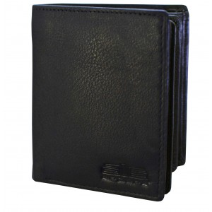 Arpera black Genuine Leather wallet C11588-1