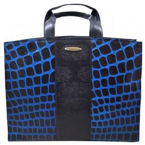 arpera | Leather Handbag | C11010-5| Blue