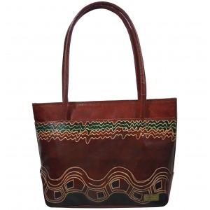 arpera | Leather Handbag | C11144-2B | Brown