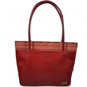 arpera | Leather Handbag | C11144-3B | Red