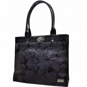 arpera | Leather Handbag | C11159-1B | Black
