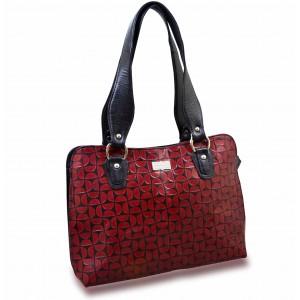 arpera | Leather Handbag | C11334-4 | Bordo