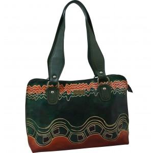 arpera | Leather Handbag | C11334-6 | Green