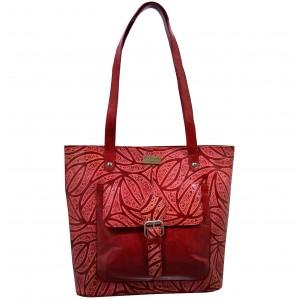 arpera   Leather Handbag   c11349-3A  Red